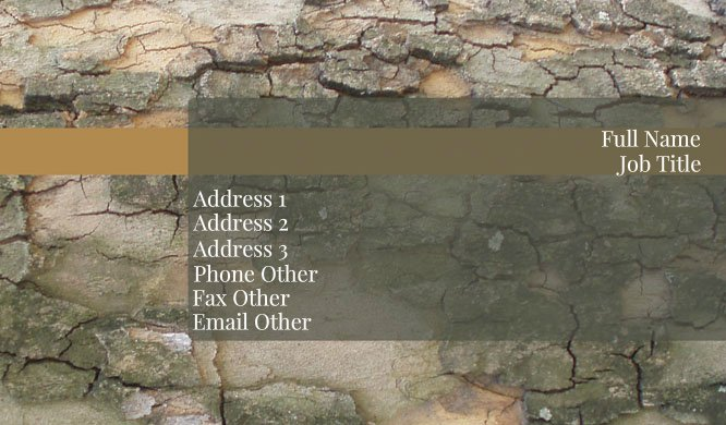 Mossy Stone Business Card Template